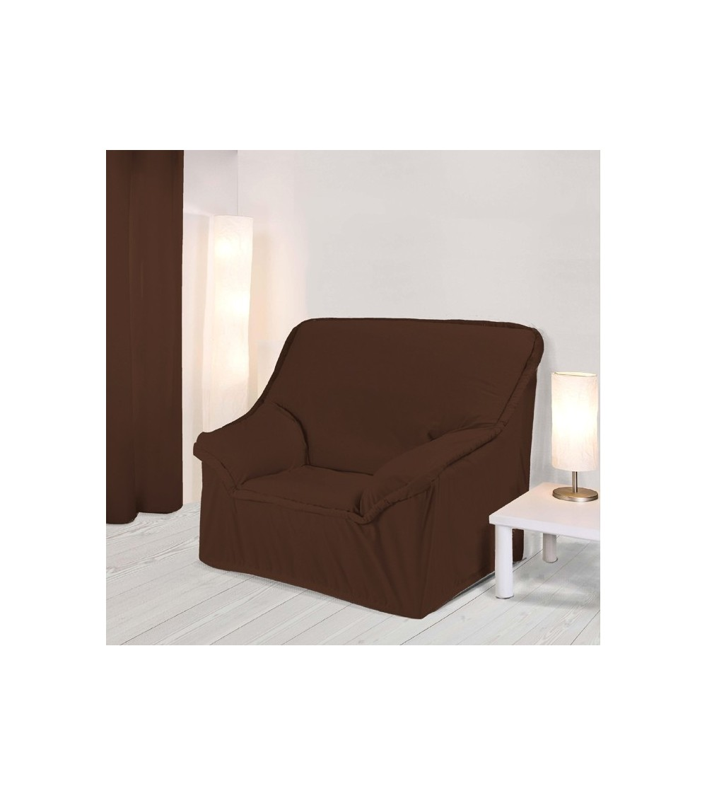 housse fauteuil a accoudoirs chocolat. Black Bedroom Furniture Sets. Home Design Ideas