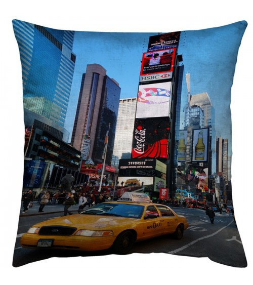 Housse coussin Time Square