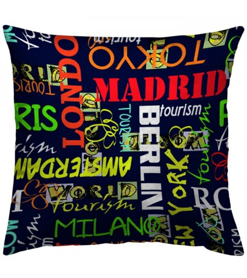 Housse coussin Capitales