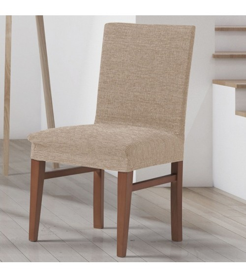 Housse assise de chaise extensible Chinée