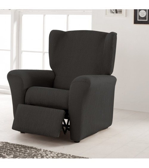 Housse fauteuil relax extensible Bertille anthracite