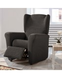 Housse fauteuil relax extensible unie