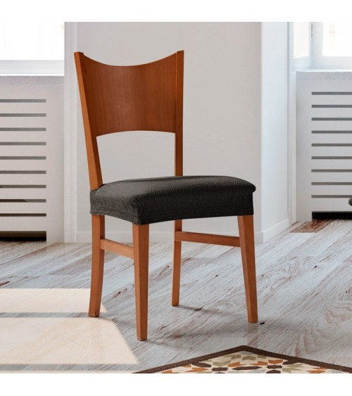 Housse assise de chaise extensible unie