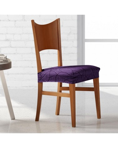 Housse assise de chaise extensible Alexia violet